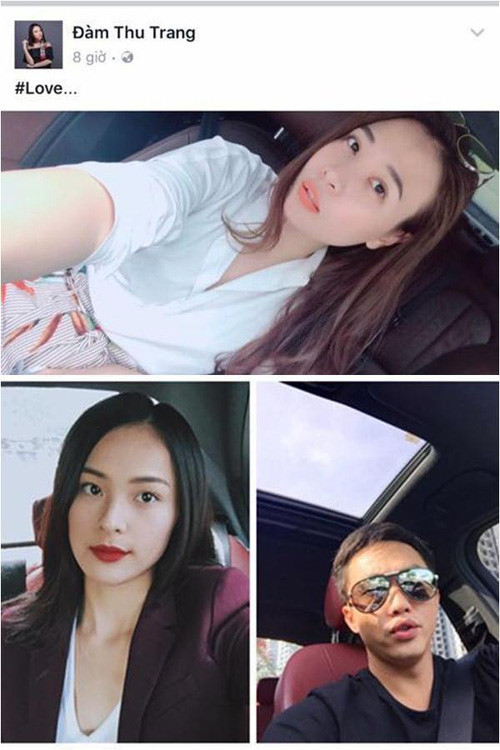 <p> Giữa tháng 7/2017, nghi vấn Đàm Thu Trang là bạn gái mới của Cường Đô La rộ lên. Những bức ảnh hai người đăng tải bị cộng đồng mạng phát hiện điểm chung về bối cảnh, địa điểm. Cả hai cũng thường tương tác trên trang cá nhân.</p>
