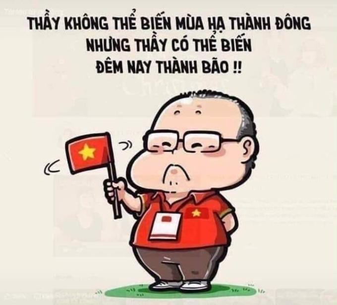 """<p> Việt Nam đoạt vé vào vòng tứ kết, người hâm mộ lên kế hoạch """"đi bão"""" và liên tục những lời cảm ơn được gửi tới HLV Park Hang-seo.</p>"""