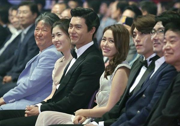 Hyun Bin và Son Ye Jin trong một sự kiện năm 2014.