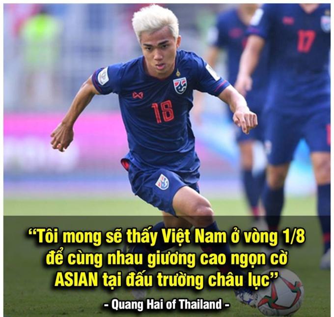 """<p> Thái Lan luôn tự hào là đội bóng mạnh hàng đầu Đông Nam Á, họ sở hữu cầu thủ ngôi sao Chanathip Songkrasin được ví như """"Messi Thái Lan"""". Trả lời phỏng vấn trên truyền thông, Chanathip chúc đội tuyển Việt Nam sẽ giành được tấm vé may mắn. Cuối cùng, <a href=""""https://ione.net/tin-tuc/nhip-song/hong/bao-han-quoc-phep-nhiem-mau-park-hang-seo-dua-viet-nam-vao-tu-ket-3871288.html"""">Rồng Vàng</a> đã <a href=""""https://ione.net/photo/hong/thua-viet-nam-jordan-bi-che-anh-nhat-bang-thua-ve-vot-3871220.html"""">vượt qua Jordan</a> để vào vòng 8 đội, tuy nhiên Voi chiến đã bị loại đau đớn.</p>"""
