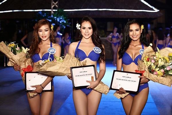 Trước thành tích tốt tại Hoa hậu Đại dương, cô từng thi Nữ hoàng Trang sức Việt Nam 2015 và giành được vị trí Á hậu 2.