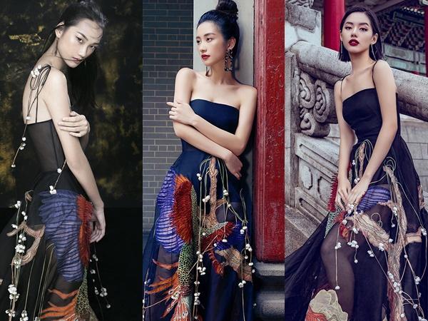 Nhan sắc một chín một mười cùng cá tính riêng biệt, cả ba bất phân thắng bại khi diện chung mẫu váy.
