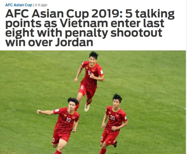 Bài viết trên chuyên trang thể thao châu Á, Fox Sports Asia.