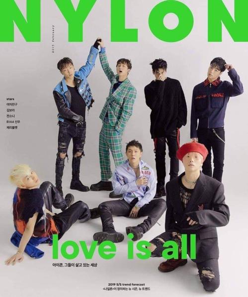 Các chàng trai YG là gương mặt trang bìa của Nylon. Sau năm 2018 đạt nhiều thành công, iKON được rất nhiều thương hiệu săn đón.