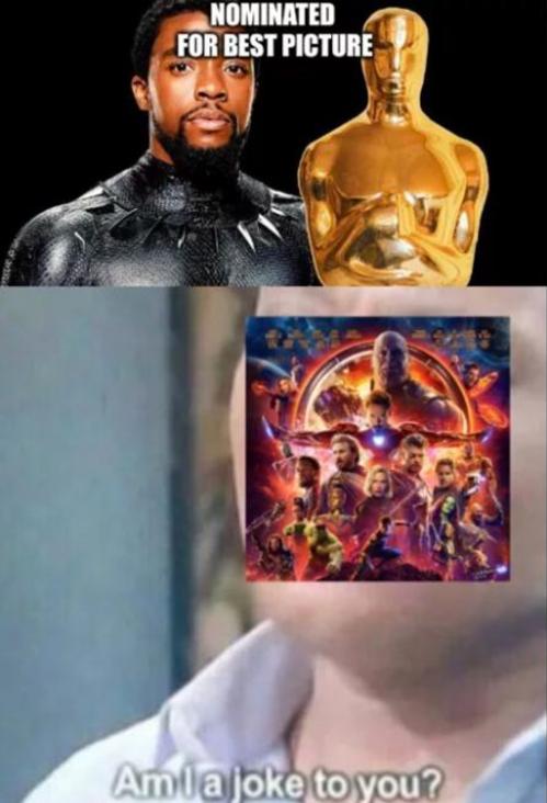 Black Panthernhận được đề cử Oscar, trong khi còn thuaAvengers: Infinity War cả về doanh thu lẫn sự khen ngợi của khán giả.