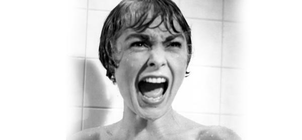 Cảnh giết người dưới vòi sen của tác phẩm điện ảnh kinh điển Psycho.