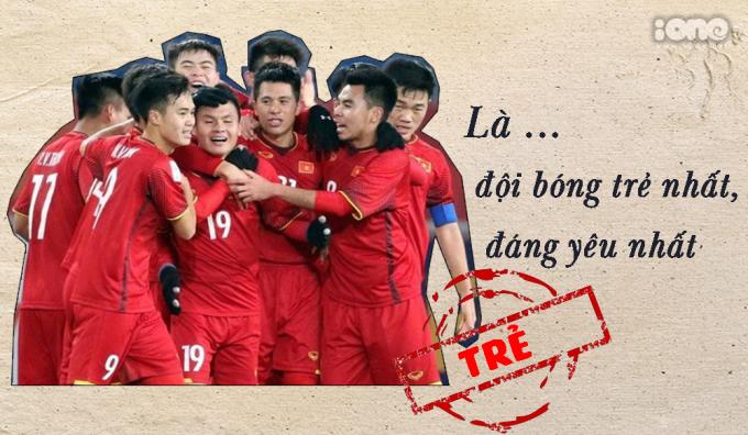 <p> Tuyển Việt Nam đến Asian Cup với đội hình có độ tuổi trung bình trẻ nhất - 23. Họ tràn đầy nhiệt huyết trên sân cỏ và cũng không kém phần nghịch ngợm, đáng yêu.</p>