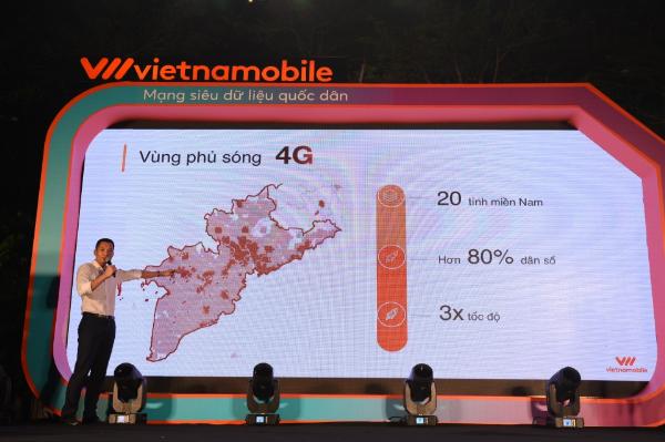 Vùng phủ sóng 4G Vietnamobile tại miền Nam.