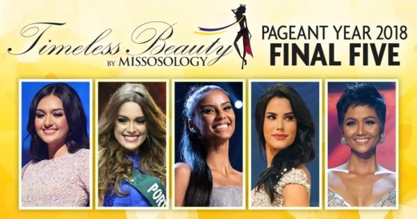 5 hoa hậu đẹp nhất năm 2018 do Missosology bình chọn.