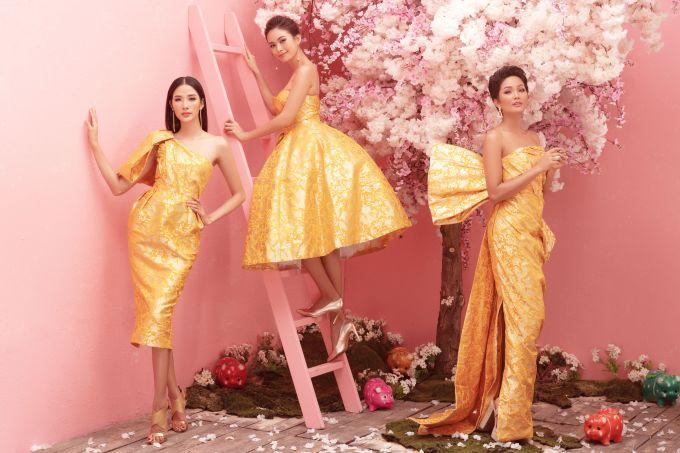 <p> Nhân dịp Tết Kỷ Hợi đang về, Top 3 Hoa hậu Hoàn vũ Việt Nam 2017 H'Hen Niê, Hoàng Thùy và Mâu Thủy thực hiện bộ hình để gửi tặng khán giả.</p>