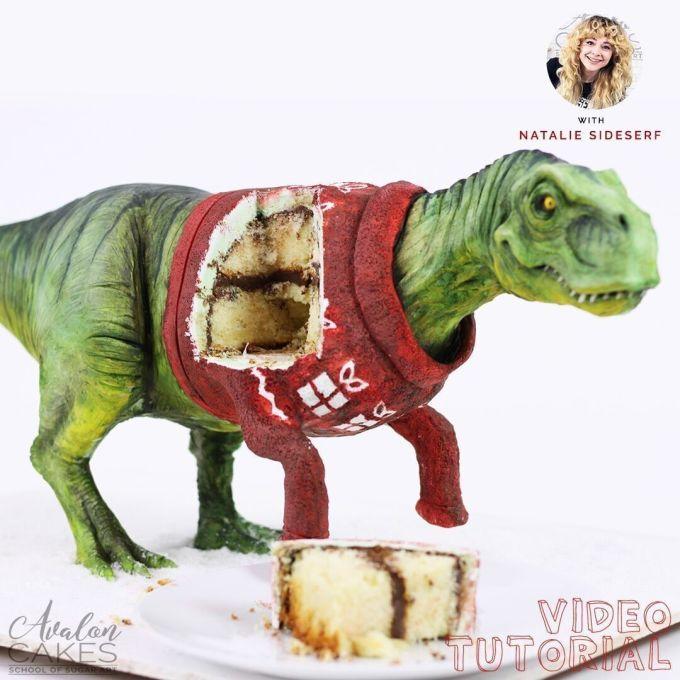 <p> Sự hung dữ của một con T-Rex qua bàn tay của những người thợ làm bánh đã trở nên vô cùng... ngọt ngào, rực rỡ.</p>