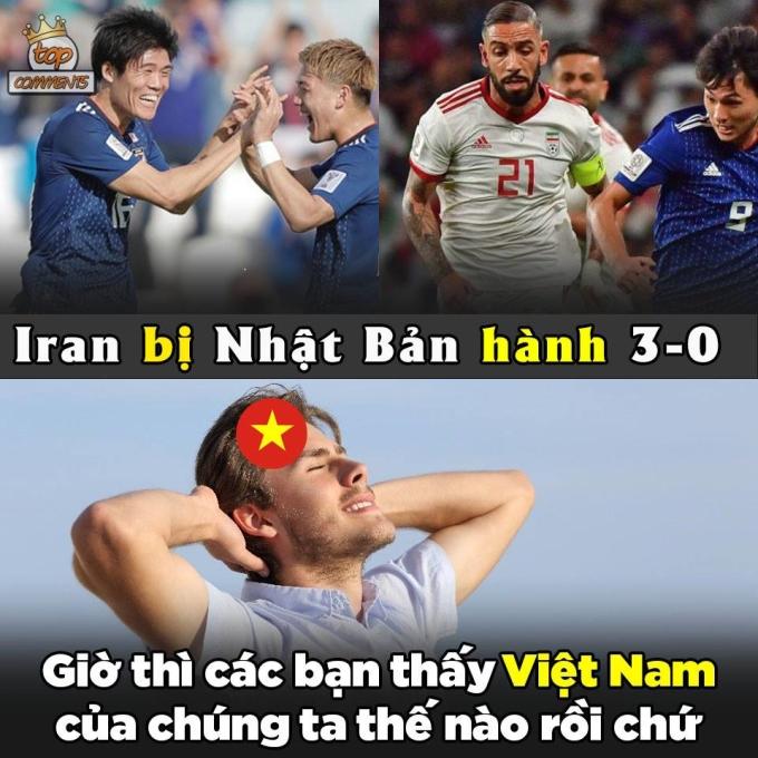 <p> Trên con đường tiến vào bán kết Asian Cup 2019, Nhật Bản thắng Saudi Arabia (vòng 1/8), Việt Nam (tứ kết) đều với tỷ số 1-0. Trong khi đó Iran hạ Oman 2-0, Trung Quốc 3-0 để ghi tên mình vào danh sách 4 đội mạnh nhất.</p>
