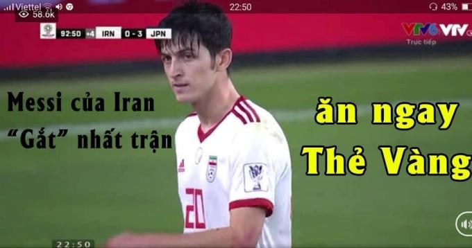 """<p> Cầu thủ Iran đã<a href=""""https://ione.net/tin-tuc/nhip-song/cau-thu-iran-xo-xat-voi-nhat-ban-khi-bi-thung-luoi-0-3-3875210.html""""> xô xát </a>với đội bạn và ăn ngay thẻ vàng.</p>"""