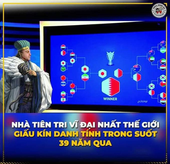 <p> Trước đó, Xavi còn dự đoán chính xác đến bất ngờ về các đội bóng lần lượt vòng bảng, rồi tứ kết, bán kết trên kênh truyền hình Al Kass (Qatar).</p>