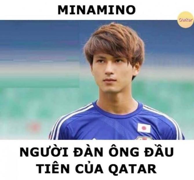 Trai đẹp Nhật Bản - Manamino là người duy nhất chọc thủng lưới của Qatar tại giải đấu.