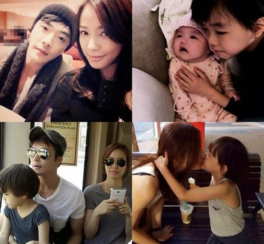 Gia đình hạnh phúc của tài tử Kwon Sang Woo.