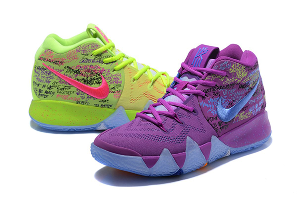 Dân sành thời trang lập tức phát hiện ra đây là đôi giày mỗi chiếc một màu đình đám của Nike, có tênNike Kyrie 4 Confetti Multi-Color