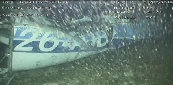 Hình ảnh mới nhất của chiếc máy bay xấu số chở cầu thủ Sala mất tích hôm 21/1.