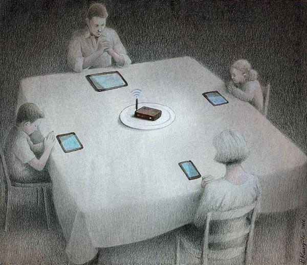 Thời buổi công nghệ, con người bị lệ thuộc vào điện thoại và những thiết bị thông minh. Những cuộc nói chuyện ít dần đi và mọi người chỉ mải chìm đắm trong một thế giới riêng.