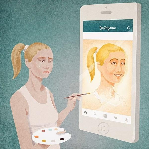 Bạn luôn vẽ ra một hình mẫu lý tưởng về bản thân trên mạng xã hội, nhưng không ai biết ngoài đời thực, bạn như thế nào.