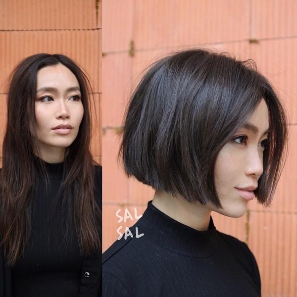 Kiểu tóc ngắn cua tròn ôm mặt là một trong những xu hướng hiện nay. Nhưng không phải ai cũng đủ can đảm để cắt chúng.