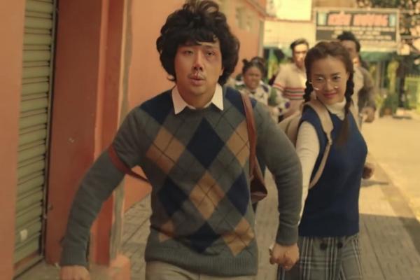 Trấn Thành đóng cặp cùng Ninh Dương Lan Ngọc trong phim Tết năm nay.