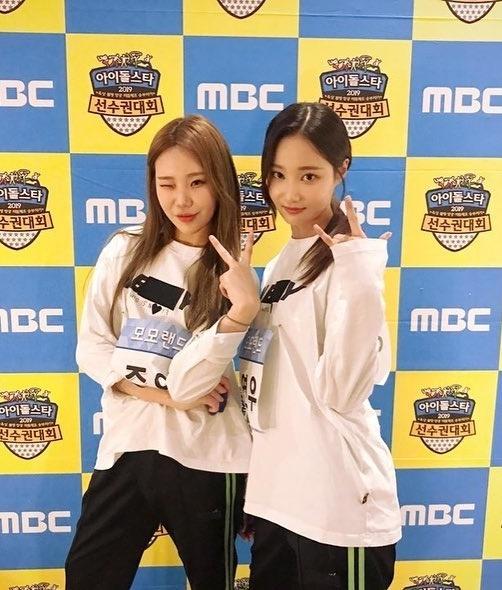 JooE và Yeon Woo (Momoland) đọ vẻ cool ngầu khi tham gia show ISAC.