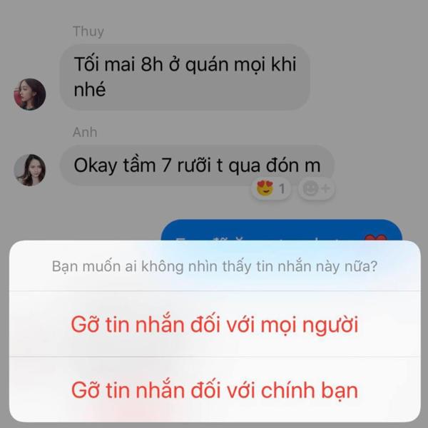 Facebook chính thức áp dụng tính năng thu hồi tin nhắn tại Việt Nam - 1