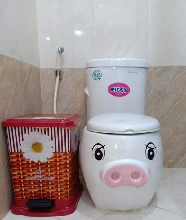 Năm Kỷ Hợi phải dùng toilet heo xinh mới đúng điệu.