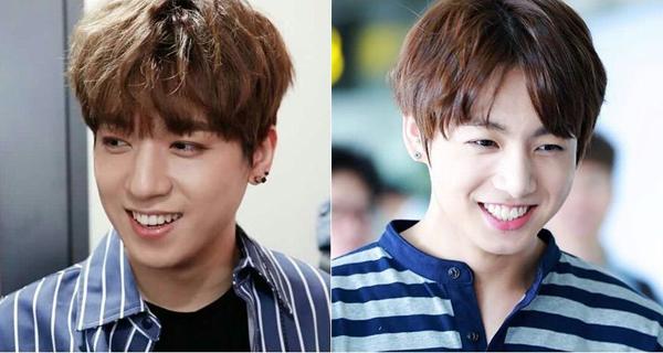 Sung Jin (Day6) từng bị nhầm là anh trai của Jung Kook vì giống thành viên BTS từ ánh mắt đến nụ cười. Sung Jin sinh năm 1993, cùng quê Busan với Jung Kook.