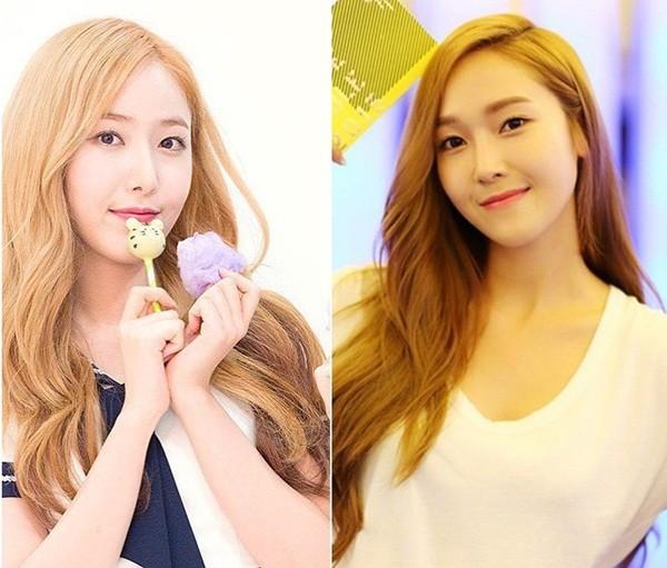 Ngay từ khi mới ra mắt, SinB (trái) đã bị gán biệt danh bản sao của Jessica vì ngoại hình rất giống cựu thành viên SNSD. Phong cách lạnh lùng, biểu cảm đôi khi khó ở của thành viên G-Friend cũng được cho là tương đồng với Jessica.
