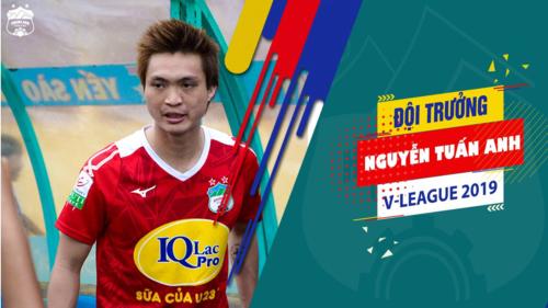 Thủ lĩnh mới của CLB HAGL - Tiền vệ Nguyễn Tuấn Anh (Ảnh: CLB HAGL)