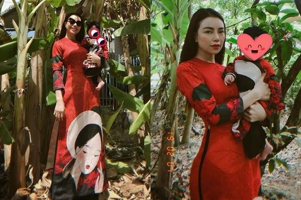 Trà Ngọc Hằng dẫn con gái đi chơi ngày Tết.