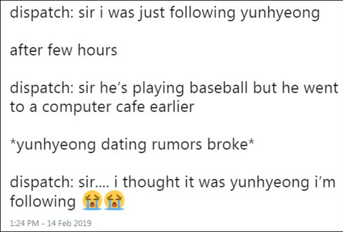 Phóng viên: tôi đang theo đuôi Yun Hyeong, câu ấy chơi bóng rổ và rồi vào quán một quán cafeTin tức hẹn hò bùng phát.Phóng viên: sếp ơi, xin lỗi em lầm, em cứ tưởng người em theo dõi là Yun Hyeong (thực chất là Chan Woo)