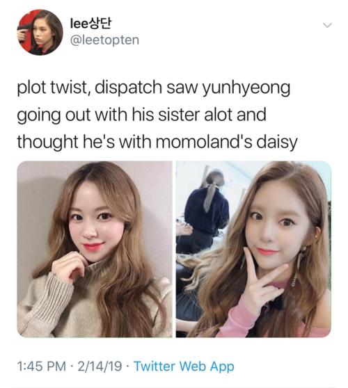 Plot twist: paparazzi thấy Yun Hyeong hẹn hò với một cô gái và tưởng rằng đó là Daisy nhưng thực chất cô ấy chính là... chị gái cậu ta.