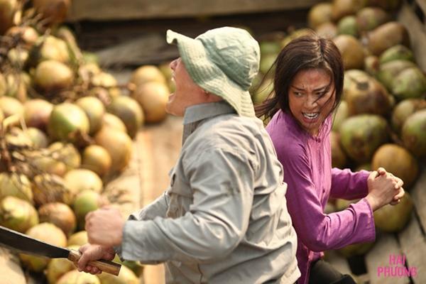 Ngô Thanh Vân đánh đám trong phim.