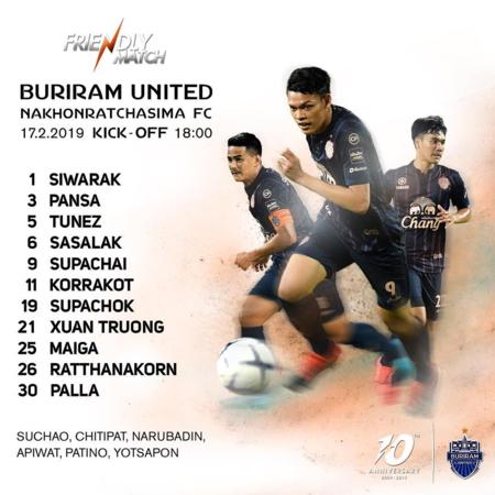 Xuân Trường được đá chính ngay ở trận ra mắt. Ảnh: Buriram United