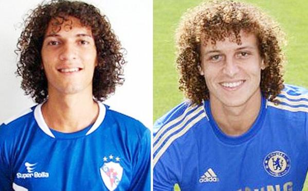 David Luis (trái) trông như anh emcủa David Luiz.