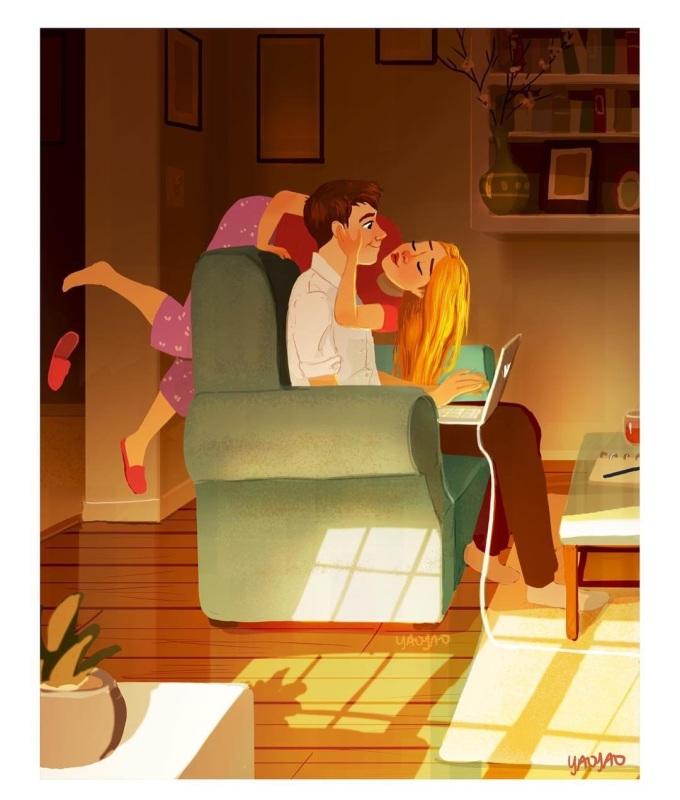 """<p> Là khi bạn được trở thành """"đứa trẻ"""" khi ở bên anh chàng.</p>"""