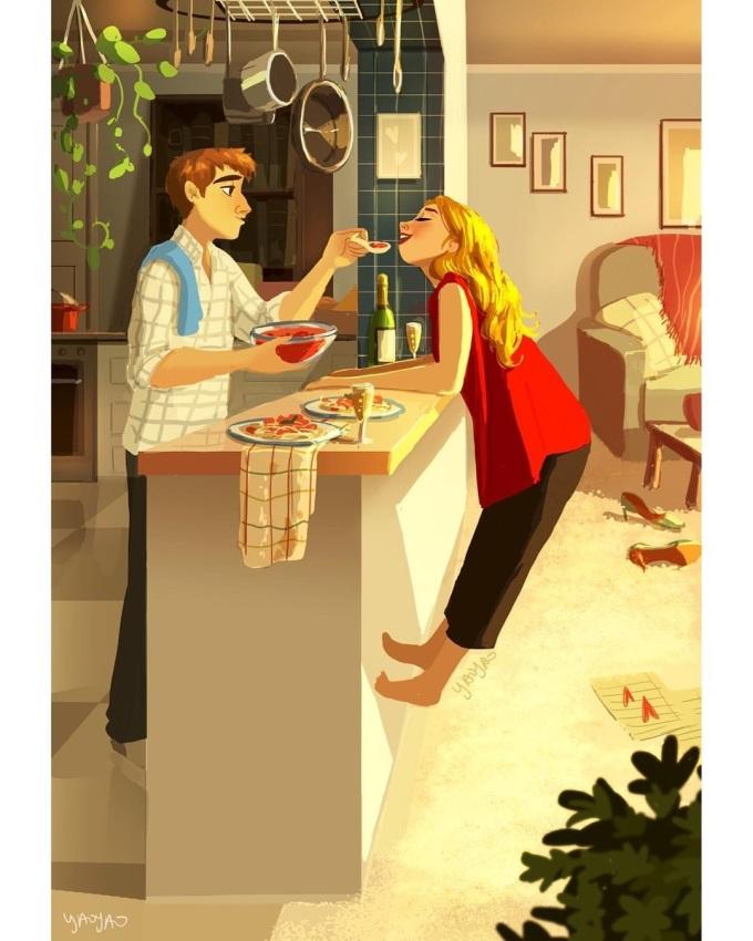 <p> Hay cùng nhau nấu nướng, thưởng thức đồ ăn tại căn bếp ấm cúng.</p>
