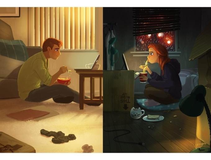 <p> Cảm giác này chắc chỉ có người yêu xa mới hiểu. Dù ở nơi đâu hai người vẫn luôn nhớ về nhau. Vẫn trò chuyện, ăn cơm cùng nhau dù chỉ qua... màn hình máy tính.</p>