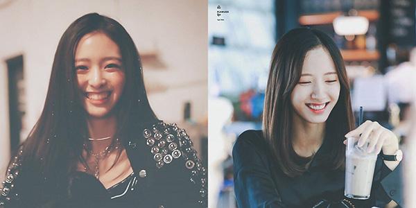 Từ kiểu tóc lộ trán, chiếc mũi và nụ cười của Yuna và Bona đều giống nhau một cách bất ngờ.