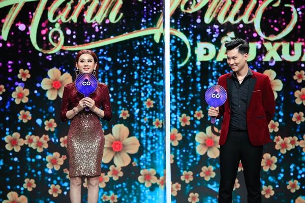 Lâm Khánh Chi - Phi Hùng ăn ý ở gamshow. Ảnh: Trần Huy Tuấn