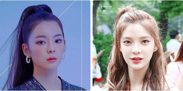 Kiểu tóc và cách trang điểm của Lia khá giống với So Jin của nhóm 9muses.