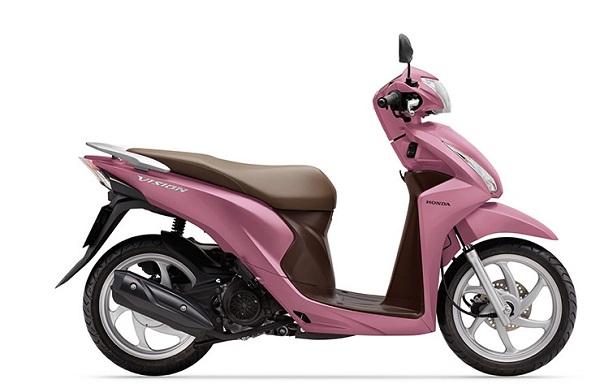 Dòng xe vision của Honda ra phiên bản màu hồng trong bảng 7 màu sắc.