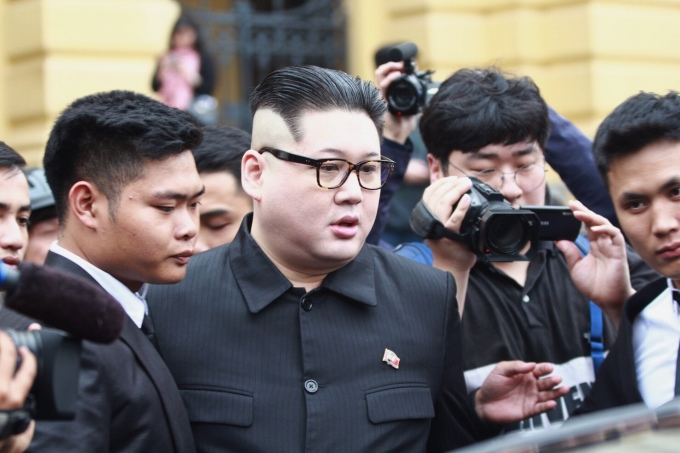 Kim Jong-un và Trump 'bản fake' đến Hà Nội