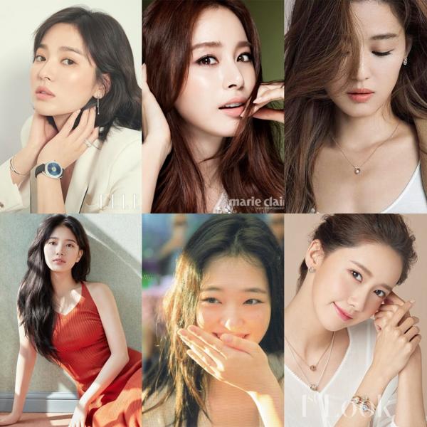 Song Hye Kyo, Kim Tae Hee, Jun Ji Hyun, Suzy, Sulli, Yoon Ah... luôn là những mỹ nhân nổi tiếng, được yêu thích nhất làng giải trí Hàn Quốc.