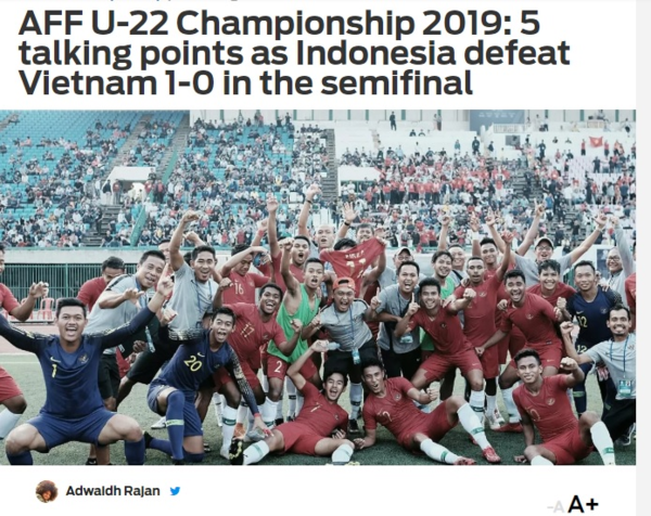 Bài phân tích của Fox Sports về trận bán kết giữa U22 Indonesia và U22 Việt Nam.