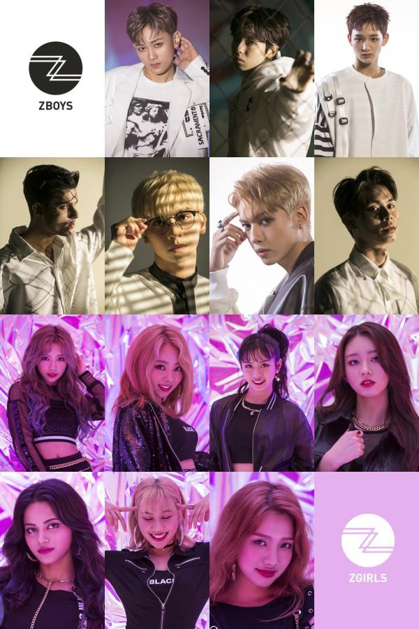 Z-Boys gồm 7 thành viên Mavin , Josh, Roy, Blink , Gai, Sid và Perry. 7 mẩu Z-Girls gồm Carlyn, Mahiro, Bell, Joanne, Priyanka, Vanya và Queen