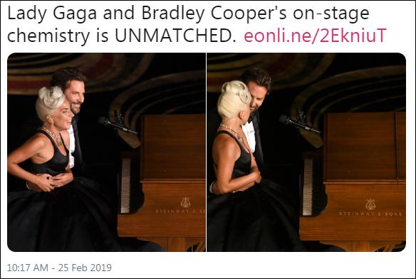Chemistry của Lady Gaga và Bradley Cooper trên sân khấu là thứ không ai địch nổi.